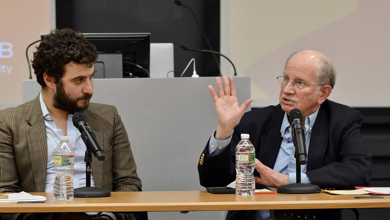 Miguel Lago and discussant Stanley Katz
