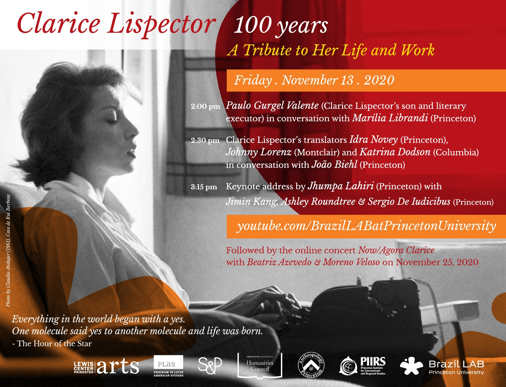 Clarice 100 Years event flyer